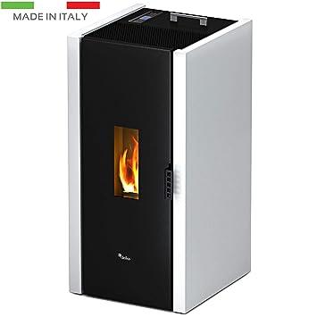 Free - 6,5 kW - Blanco Estufa De Pellets Air Calefactor aire caliente Calefacción Casa: Amazon.es: Bricolaje y herramientas