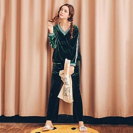 HWG-GAOYZ Conjunto De Pijamas Camisones Ropa De Dormir Ropa De Noche Mujer Primavera Otoño