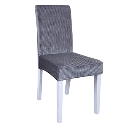 Amazon.com: MOOUS 2PCs Stretch Dining Room Chair Cover ...