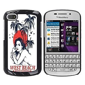 Dragon Case - FOR BlackBerry Q10 - .I miss you - Caja protectora de pl??stico duro de la cubierta Dise?¡Ào Slim Fit