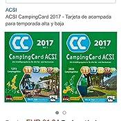 ACSI CampingCard 2017 - Tarjeta de acampada para temporada ...