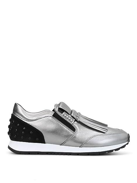 Tods - Zapatillas para Mujer Plateado Plata IT - Marke Größe, Color Plateado, Talla