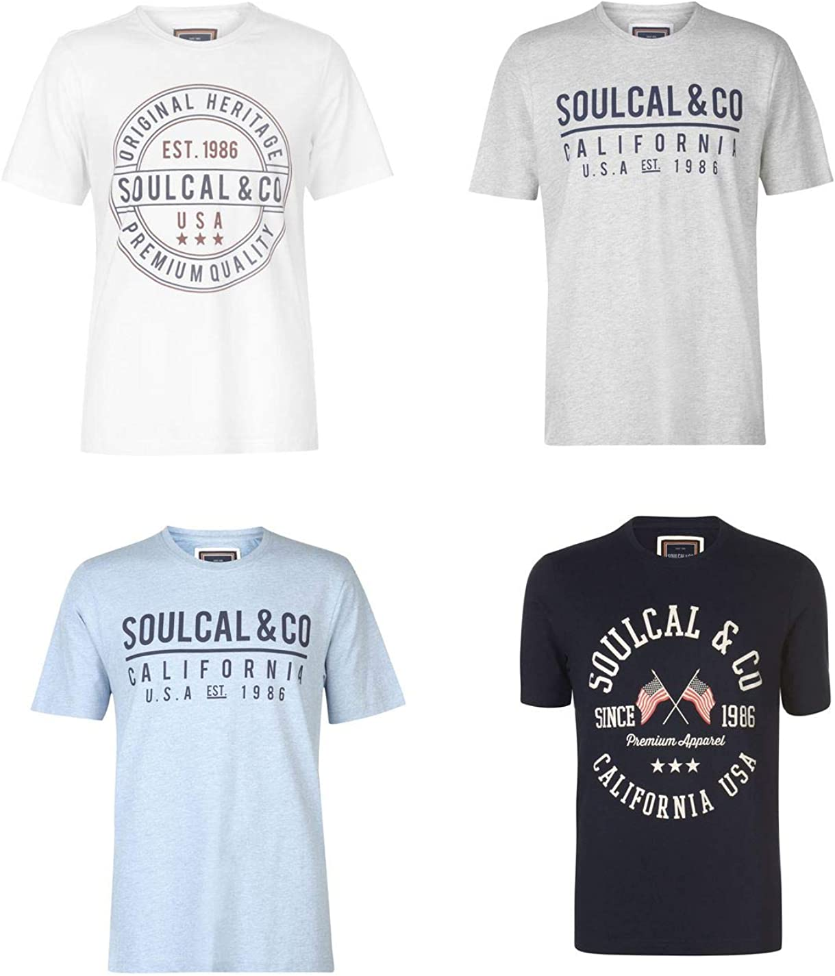 SoulCal Mens Fashion T Shirt Top