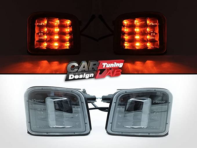 LED Rear Lights Lamps Smoked Lens Pair for VW Transporter T5 03-15 Tailgate
