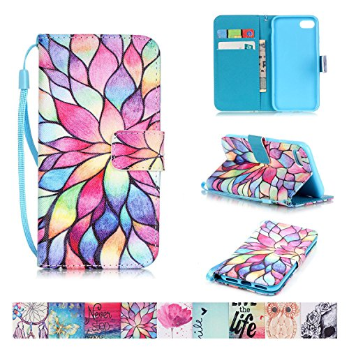 iPhone 7 Case, Firefish [Card Slots] [Kickstand] Flip Folio Wallet Case Synthetic Leather Shell Scratch Resistant Protective Cover for Apple iPhone 7