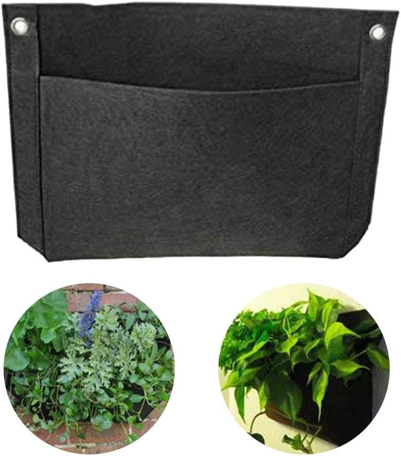 2PCS Hanging Planter Bags Vertical Wall Planting Grow Bags Wall ...