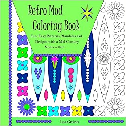 retro mod coloring book fun easy patterns mandalas and designs with a mid century modern flair