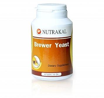 Amazon.com: nutrakal Brewer Levadura 500 mg 60 pestañas ...