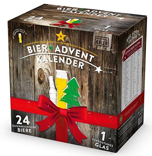 Kalea Bier Adventkalender - Edition Österreich - 24 Bierspezialitäten & 1 Verkostungsglas