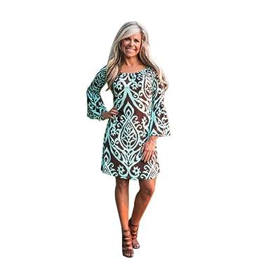 Kleid Transer® Damen Outdoor Kleider Glocke unten Ärmel
