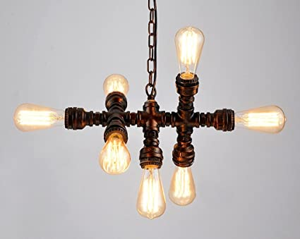 Kronleuchter Industrial ~ Home mall kronleuchter loft industrial style eisen rohr licht