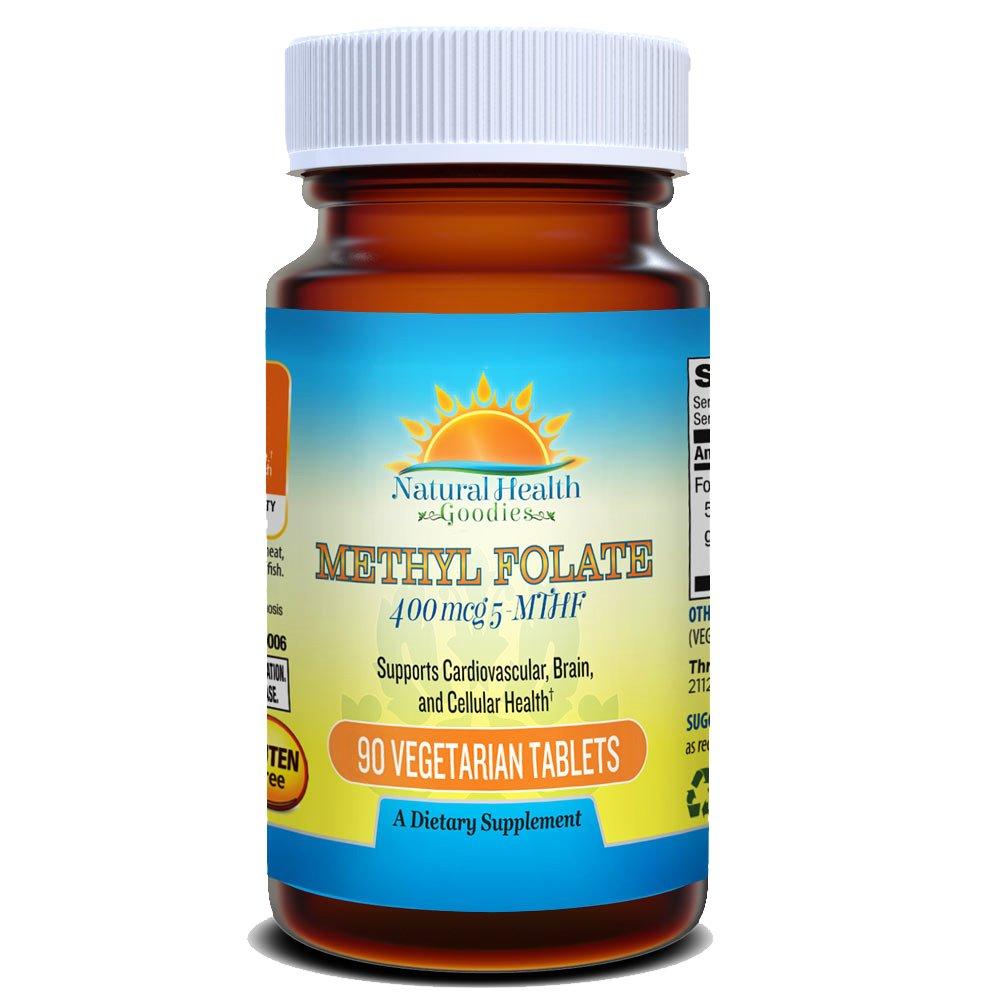 Natural Health Goodies Folate 5-MTHF Active Methylfolate - Smart Choice for Prenatal Development & Strong Heart & Brain vs Synthetic Folic Acid
