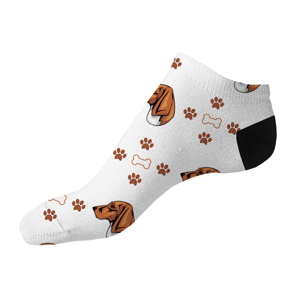Trigg Hound Dog Bones Paws Pattern Men-Women Adult Ankle Socks