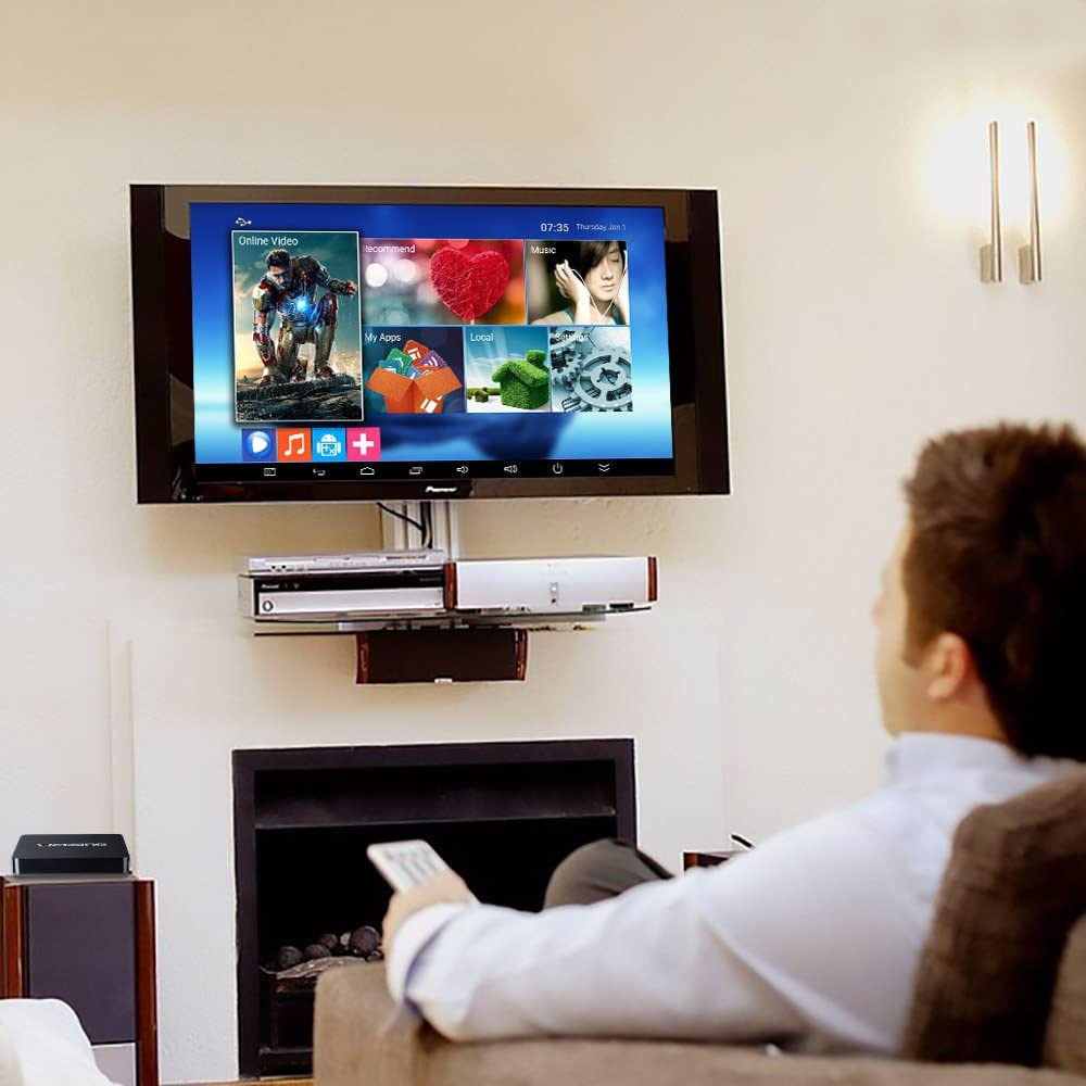 VicTsing Android 5.1 TV Box, Quad-Core, 1G DDR3 y 8G Flash, 4Kx2K @60 fps, Bluetooth y HDMI, con WiFi & Miracast/DLNA & Gigabit Network & OTA, Pre-Download KODI/Youtube/Netflix/Skype: Amazon.es: Electrónica