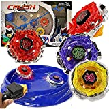 Crush Battling Blades Game Tops Metal Fusion Starter Set (4 Tops +2 Launchers +4 Tips +2 Bolts +1 Grip +1 Arena)