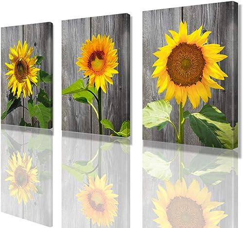 Wall Art Sunflower Living Room Decor