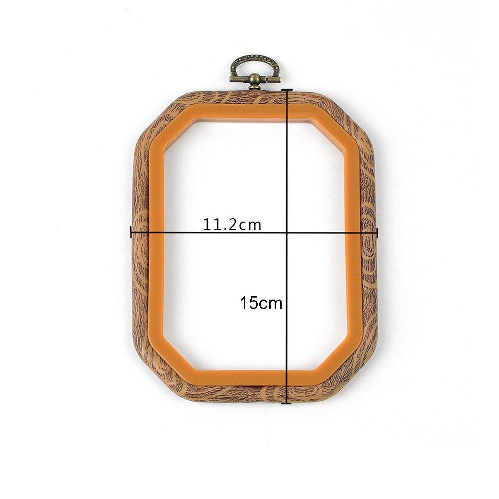 con varie forme per fai da te cucito artigianato Set di cerchietti per ricamo e punto croce Round 14cm