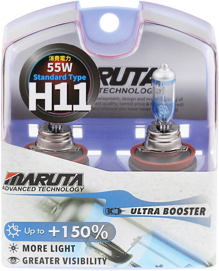 Maruta Mtec H11 55w Ultra Booster 150 Mt 556 3700k Xenon Look Set Mit 2 Lampen E Prüfzeichen Auto