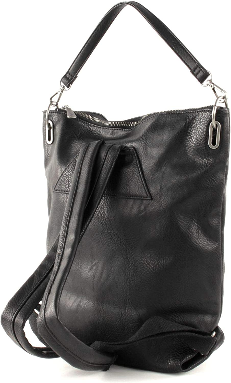 Fritzi aus Preussen Damen Pola Rucksackhandtasche, 11x29x35 cm Schwarz (Black)