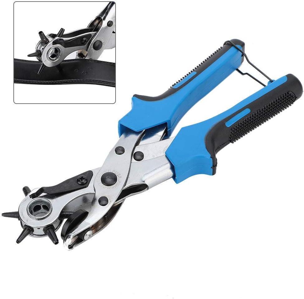 FMOGE Belt Hole Puncher, Leather Hole Punch Set for Belts Watch Bands Straps Dog Collars Saddles Shoes(2),Hand Tool Sets 5