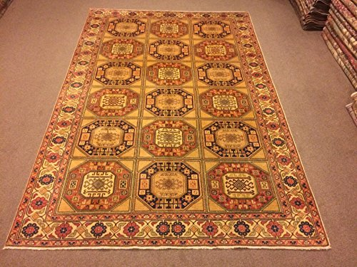 6.7x9.10 Feet Geometric Design Multiple Color Carpet Room Size Village Rug Vintage Rug Handmade Carpet Handmade Rug Kitchen Living Room Bedroom Area Rug.Code:K623