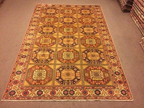 6.7x9.10 Feet Geometric Design Multiple Color Carpet Room Size Village Rug Vintage Rug Handmade Carpet Handmade Rug Kitchen Living Room Bedroom Area Rug.Code:K623