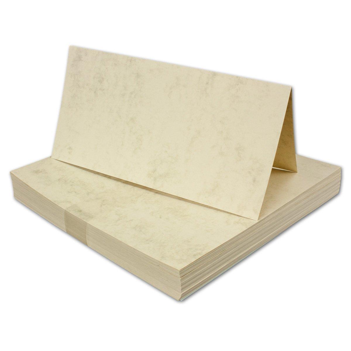 100 100 100 Stück I DIN LANG Falt-Karten, GRAU MARMORIERT - 200 g qm, 210 x 210 mm, hochdoppelt B07PYVCNL2 | Reichhaltiges Design  6e8f18