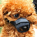 Lovely Baby Adjustable Mesh Dog Muzzle For Biting Chewing Barking & Best Pet Mouth Cover & Soft Cat Muzzles