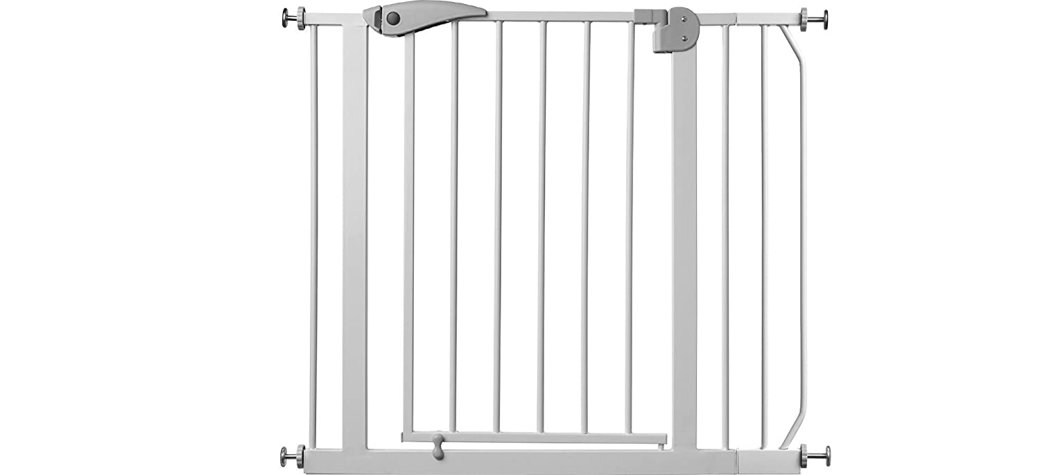 Adjustable safety gate Berrin white 75-175 cm 14 variations open like a door without drilling width 165-175 cm stair gate IB-Style