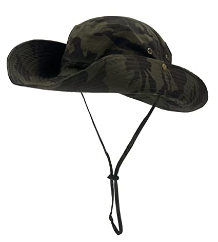 9e48b3e8 Roffatide UPF50+ Camouflage Foldable Boonie Fishing Bucket Hat Sun Cap 8  Colors Army Green