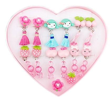 de719b702168 Conjunto de bisutería para niños   Clips   Anillos   Accesorios   Juguete  para niñas