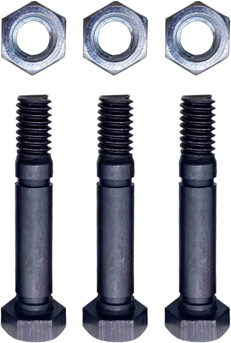 Igidia 3 Pack Shear PINS /& Bolts for Ariens 52100100 521001 Snowthrower