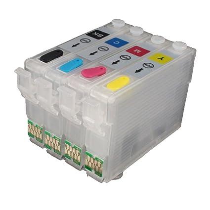 ouguan® 4 Piezas Vacío Recargable Epson 16 X L 16 Cartucho de ...