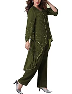 Fitty Lell Women S Chiffon Pants Suits For Wedding Mother Of The