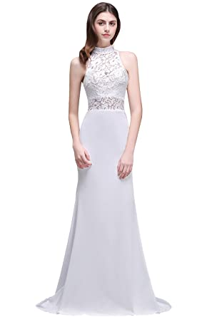 MisShow Women\'s Lace Top Mermaid Wedding Dresses for Bride 2017 at ...