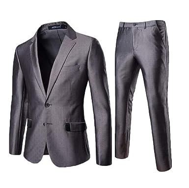 7f71f47b43e Jofemuho Mens 3 Pieces Tuxedos One Button Shawl Lapel Wedding Dress Suits  Formalwear at Amazon Men s Clothing store