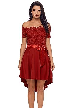 Elegante kleider kurz rot