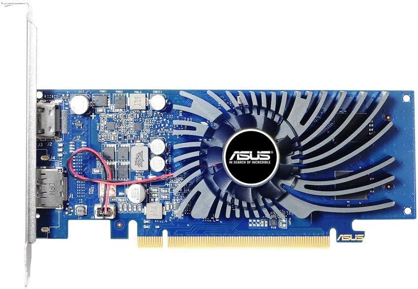 ASUS GeForce GT 1030 2 GB GDDR5, Scheda Video Gaming e Multimediale per HTPC Compatti e Build Low Profile, Incluso Bracket Aggiuntivo I/O