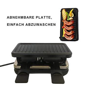 Barbacoa Eléctrica Raclette de de piedra GRILL – Parrilla Sin Humo Party Grill 380 W –