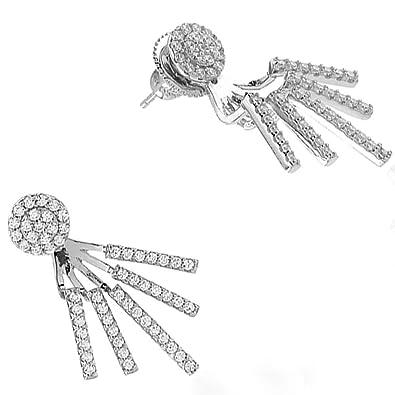 0dfdf3070 Sif Jakobs Ladies Rose Gold-Plated 'Siena' Multi Drop White Cubic Zirconia  Ear Jackets SJ-E0688-CZ(RG): Amazon.co.uk: Jewellery