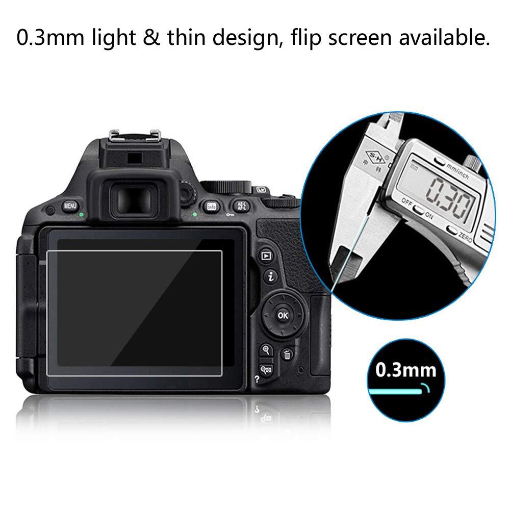 Couverture compl/ète 7D2 R/ÉSISTANT Indice Duret/é 9H 2.5D 0.3mm Haute Verre Tremp/é de Cam/éra la D/écran Protecteur pour Canon 7D Mark II Lusee 2 x Pack