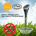 Hunter's Pest Control 2 X Solar Silent Snake Repellent Mole Repeller Spike Help