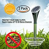 Hunter's Pest Control 2 X Solar Silent Snake Repellent Mole Repeller Spike Help