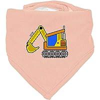 Hariz - Pañuelo para bebé, diseño de tractor Algodón de azúcar rosa.