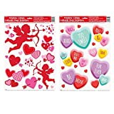 Valentines Day Window Film Decorations - 2 Sheets