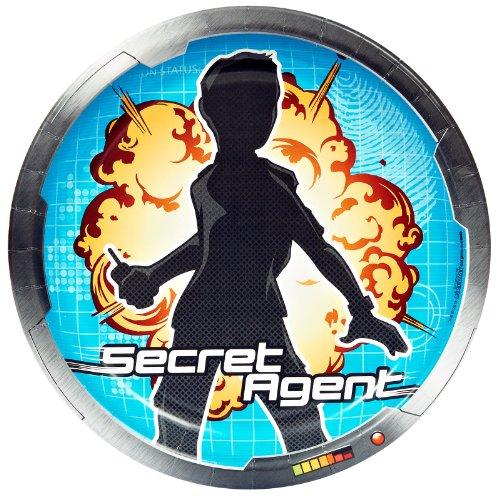 Csi Detective Costume (Secret Agent Spy Party Supplies - Dinner Plates (8))