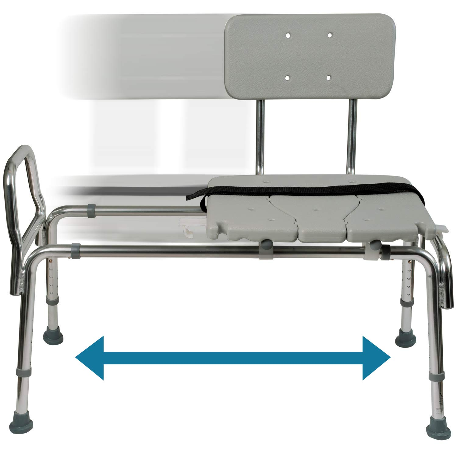 Outstanding Tub Transfer Bench And Sliding Shower Chair Made Of Heavy Duty Non Slip Aluminum Body And Plastic Seat With Adjustable Seat Height And Cut Out Access Ncnpc Chair Design For Home Ncnpcorg