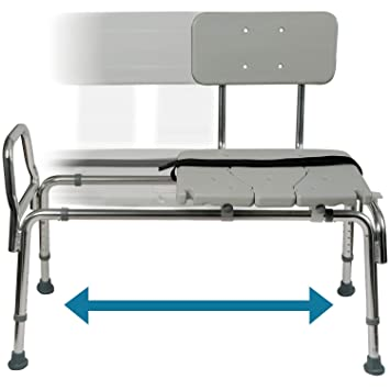Astonishing Tub Transfer Bench And Sliding Shower Chair Made Of Heavy Duty Non Slip Aluminum Body And Plastic Seat With Adjustable Seat Height And Cut Out Access Machost Co Dining Chair Design Ideas Machostcouk