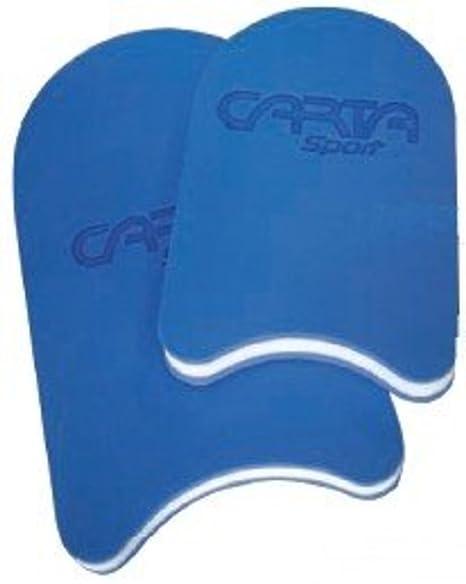 Eva espuma Senior y Junior de natación flotador piscina natación azul/blanco, color azul