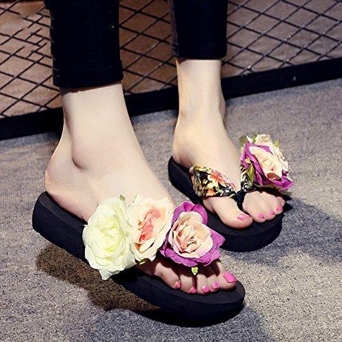 CN35 5Cm nero EU39 pantofole Rosso moda LISABOBO estate nero 3 UK6 Colore Marrone CN39 5 donne confortevole Beige blu UK3 Dimensioni elegante EU36 bianco Rnxn5